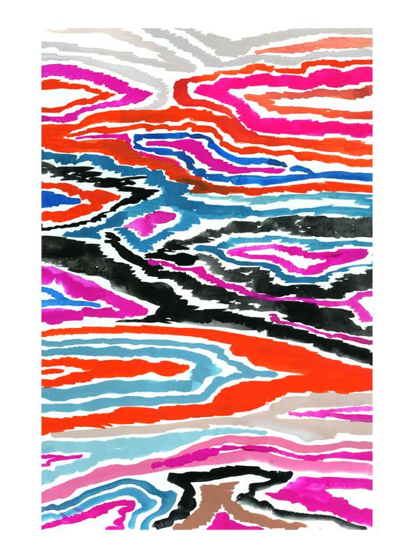 Modern Ikat Wall Art Prints by Agnes Pierscieniak | Minted