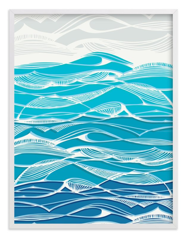 """""""Tempestuous Seas"""" - Limited Edition Art Print by Gill Eggleston in beautiful frame options and a variety of sizes."""