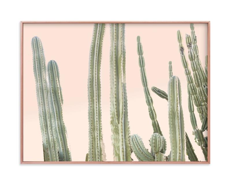Peachy Cactus Print Art Print