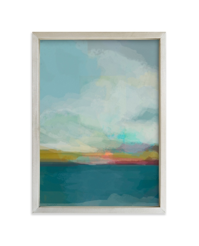 """""""Morning Walk"""" - Limited Edition Art Print by Alison Jerry Designs in beautiful frame options and a variety of sizes."""