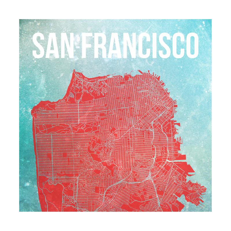 Map of San Francisco Wall Art Prints by Alex Elko Design | Minted