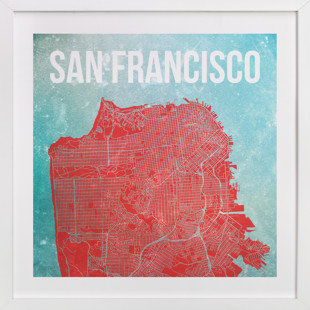 Map of San Francisco Art Print