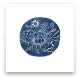 Fine Blue Floral I by A Little Big Picture