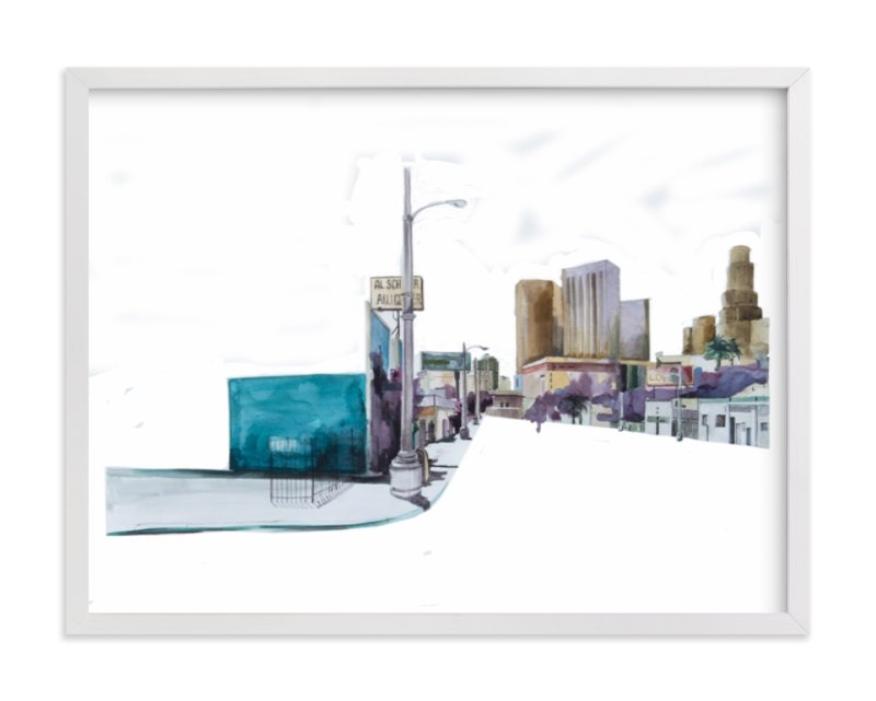 """Los Angeles streets"" - Limited Edition Art Print by Viktoria Eperjesi in beautiful frame options and a variety of sizes."