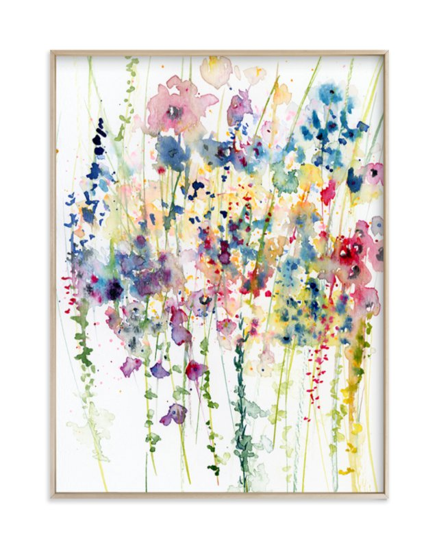 """""""Wildflowers"""" - Limited Edition Art Print by Lindsay Megahed in beautiful frame options and a variety of sizes."""