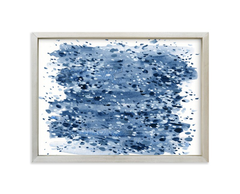 """Navy Night"" - Limited Edition Art Print by Katie Craig in beautiful frame options and a variety of sizes."