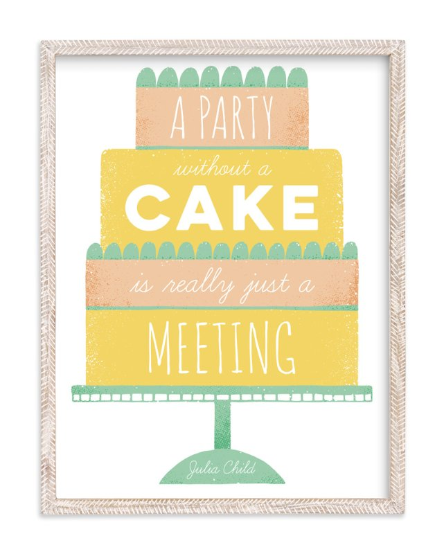"""""""No cake no party"""" - Limited Edition Art Print by Maria M. Keeler in beautiful frame options and a variety of sizes."""