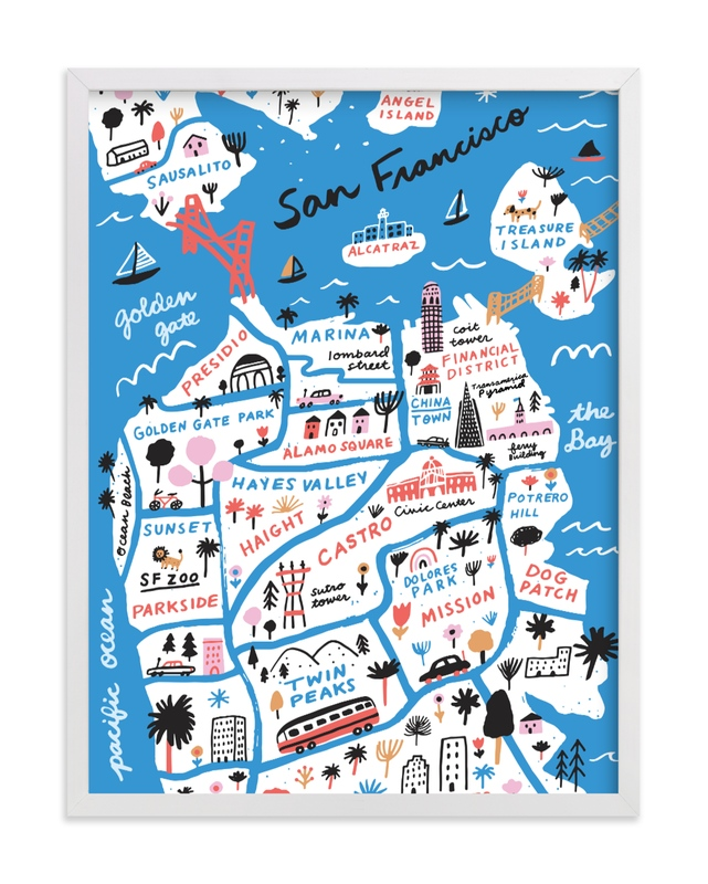 """""""I Love San Francisco"""" - Limited Edition Art Print by Jordan Sondler in beautiful frame options and a variety of sizes."""