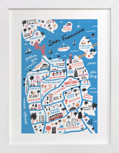 I Love San Francisco Art Print