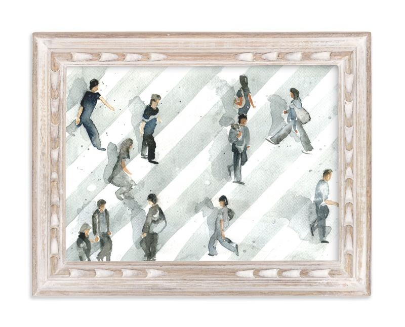 """Rush Hour"" - Limited Edition Art Print by Lulaloo in beautiful frame options and a variety of sizes."