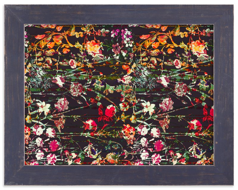 """""""Painted midnight garden"""" - Limited Edition Art Print by Teo in beautiful frame options and a variety of sizes."""