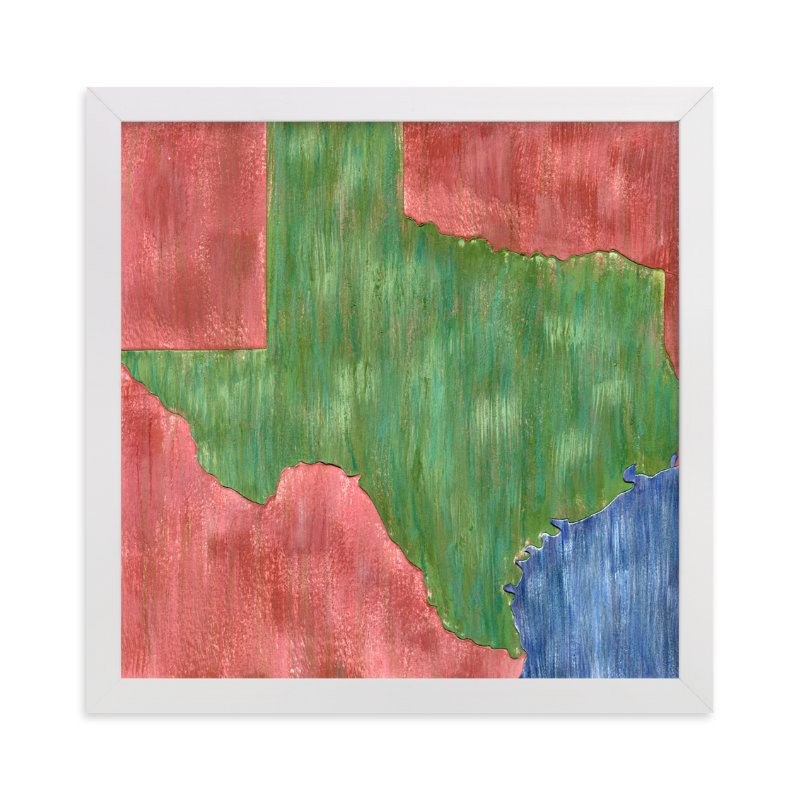 """""""Texas in Paint"""" - Limited Edition Art Print by Denise Wong in beautiful frame options and a variety of sizes."""