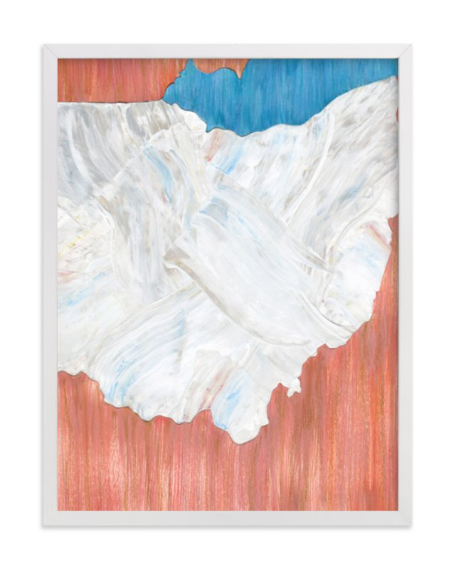 This is a blue art by Denise Wong called Ohio in Paint.