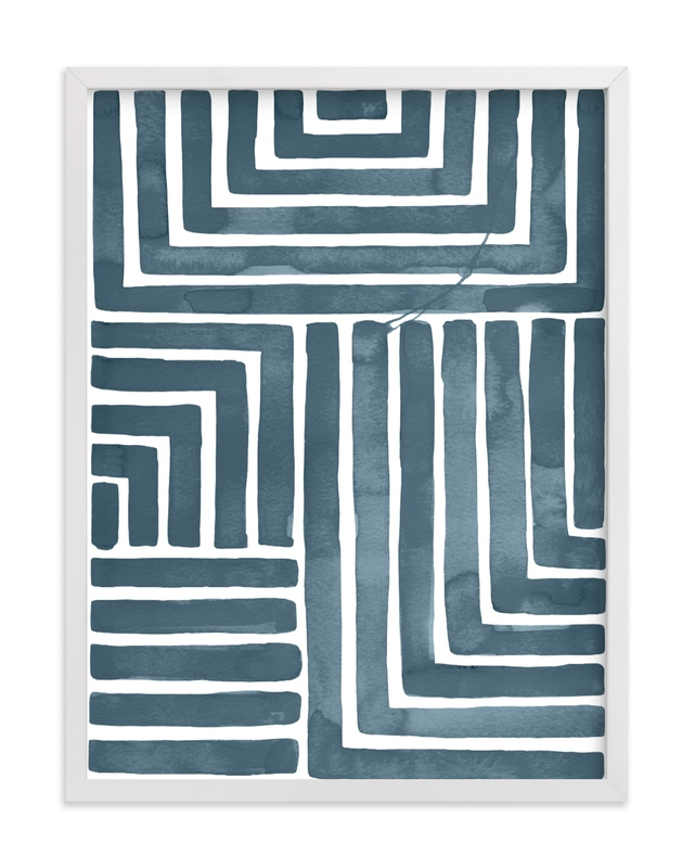 This is a blue art by Kristine Sarley called Hard & Soft with standard.