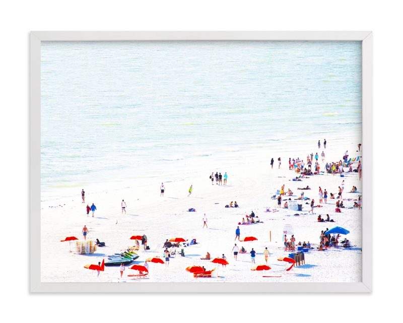"""""""Bright Beach"""" - Limited Edition Art Print by Baumbirdy in beautiful frame options and a variety of sizes."""