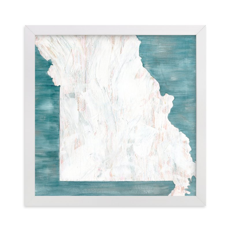 """""""Missouri in Paint"""" - Limited Edition Art Print by Denise Wong in beautiful frame options and a variety of sizes."""