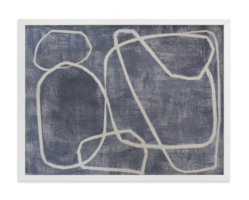 This is a grey art by Camille Pietrow called Squiggles with standard.