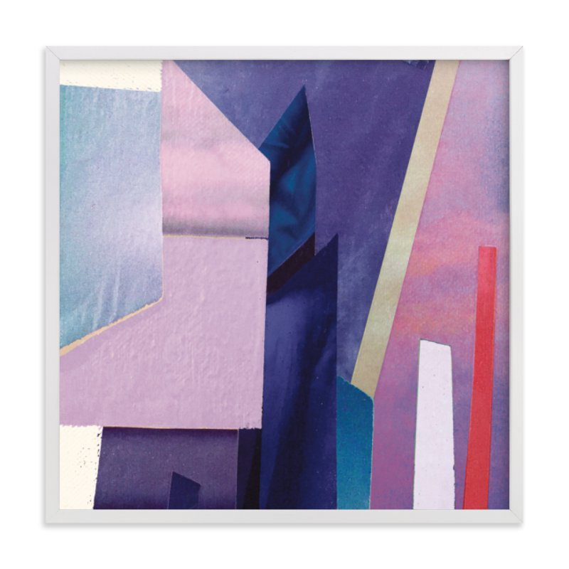 """""""Violet Towers"""" - Limited Edition Art Print by cassie adams in beautiful frame options and a variety of sizes."""