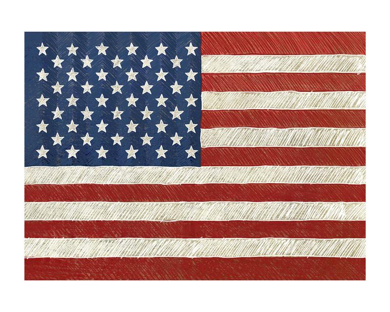 Rustic american flag wall art prints by amy marsh minted