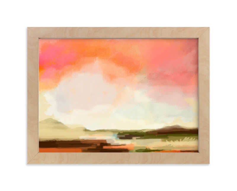 """""""Desert Walk"""" - Limited Edition Art Print by Alison Jerry Designs in beautiful frame options and a variety of sizes."""