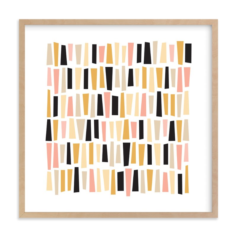 """In A Row"" - Limited Edition Art Print by annie clark in beautiful frame options and a variety of sizes."