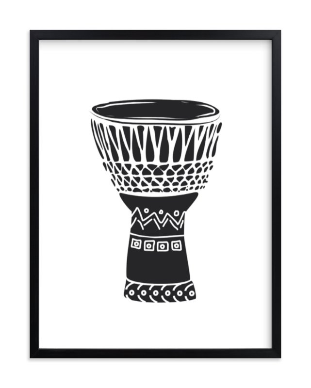 """""""African Drum"""" - Limited Edition Art Print by Oma N. Ramkhelawan in beautiful frame options and a variety of sizes."""