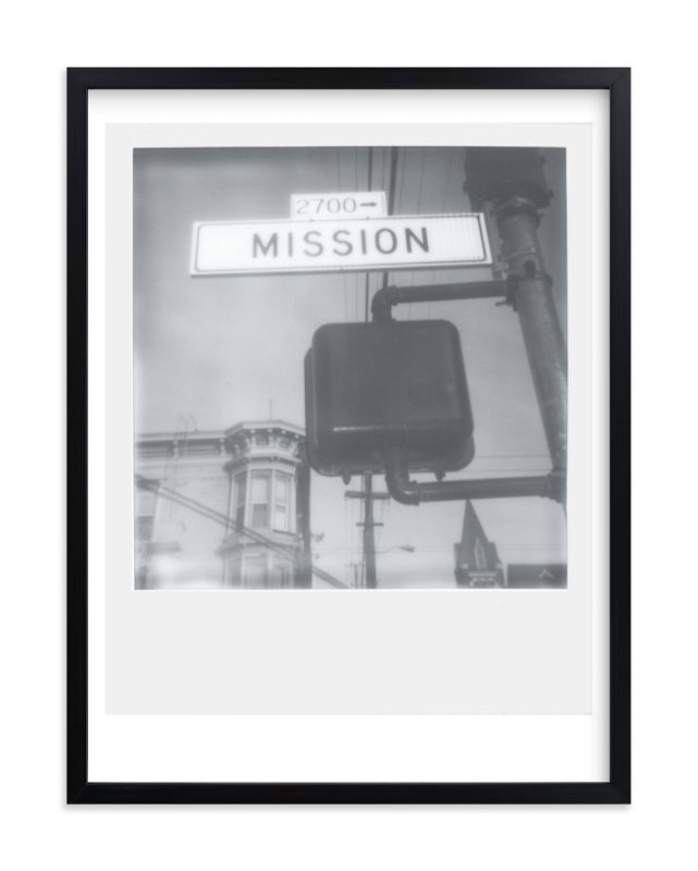 """Mission Street"" - Limited Edition Art Print by Namrata Patel in beautiful frame options and a variety of sizes."