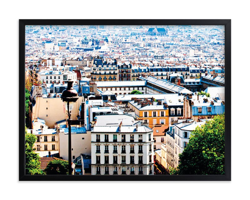 """""""Rooftops of Paris"""" - Limited Edition Art Print by TS Designs in beautiful frame options and a variety of sizes."""