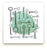 Key Collage by Diana Steinsnyder