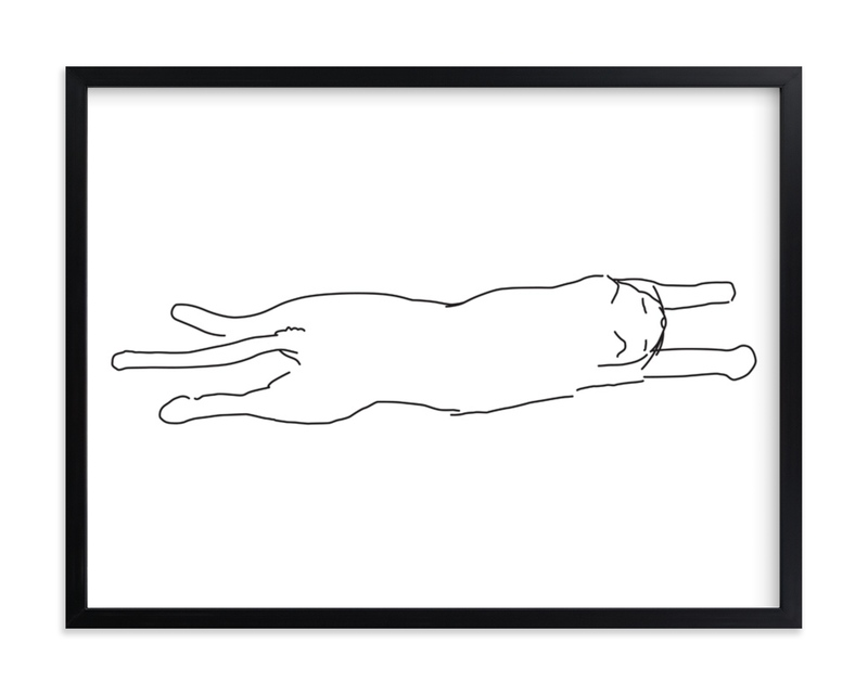 """Sleepy Kitty"" - Limited Edition Art Print by Tyler Tea in beautiful frame options and a variety of sizes."