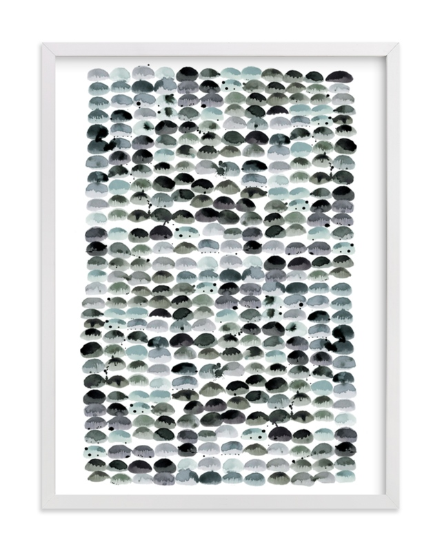 """Pebbles"" - Limited Edition Art Print by Kelly Ventura in beautiful frame options and a variety of sizes."