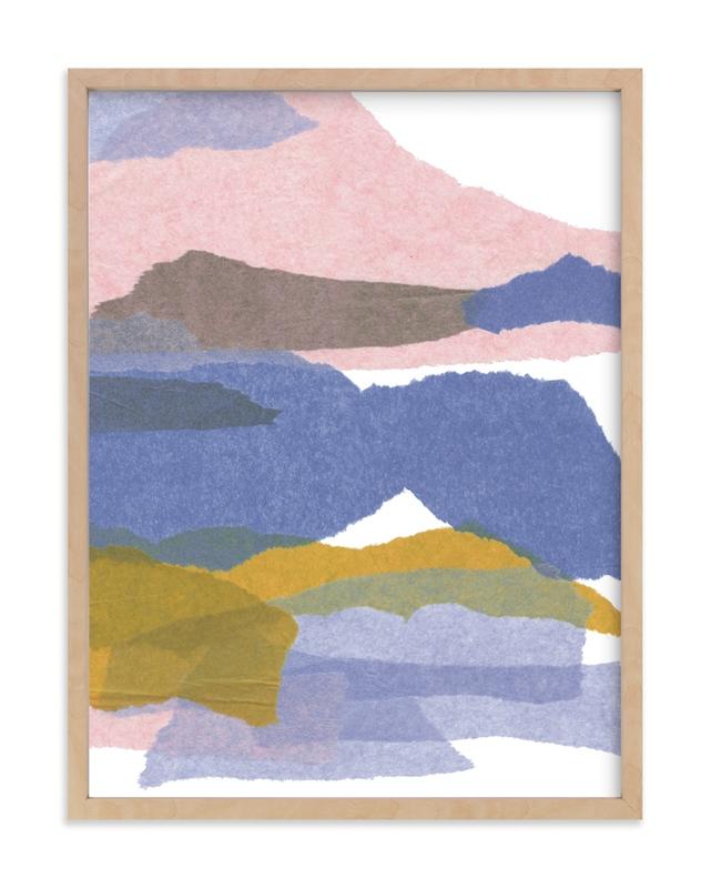 mountain sunset three Art Print