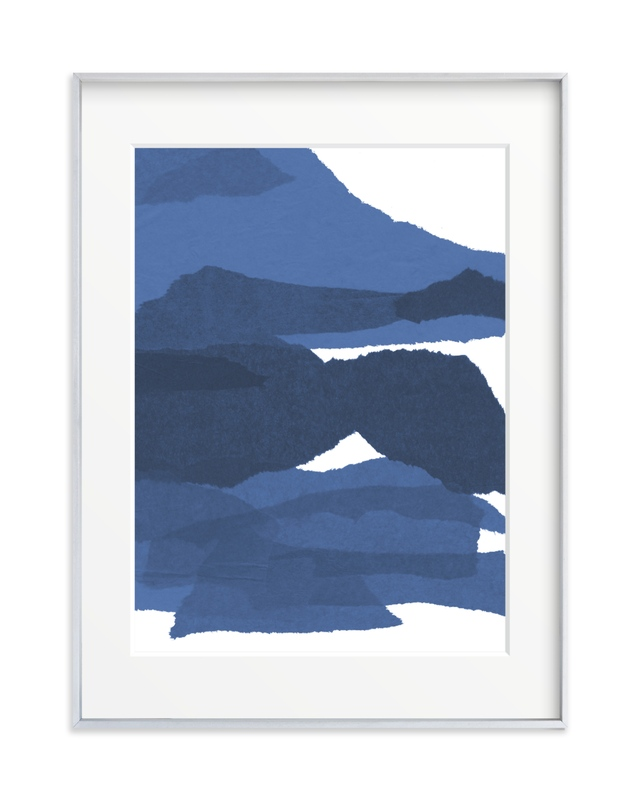 mountain sunset three Art Print