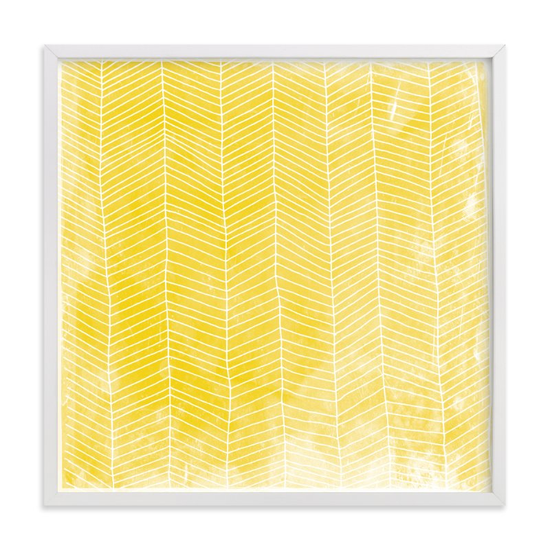 """Abstract Herringbone"" - Limited Edition Art Print by Paper Dahlia in beautiful frame options and a variety of sizes."