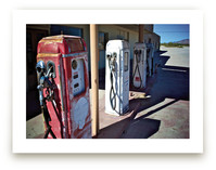 Vintage Gas Station by Horizon Photography