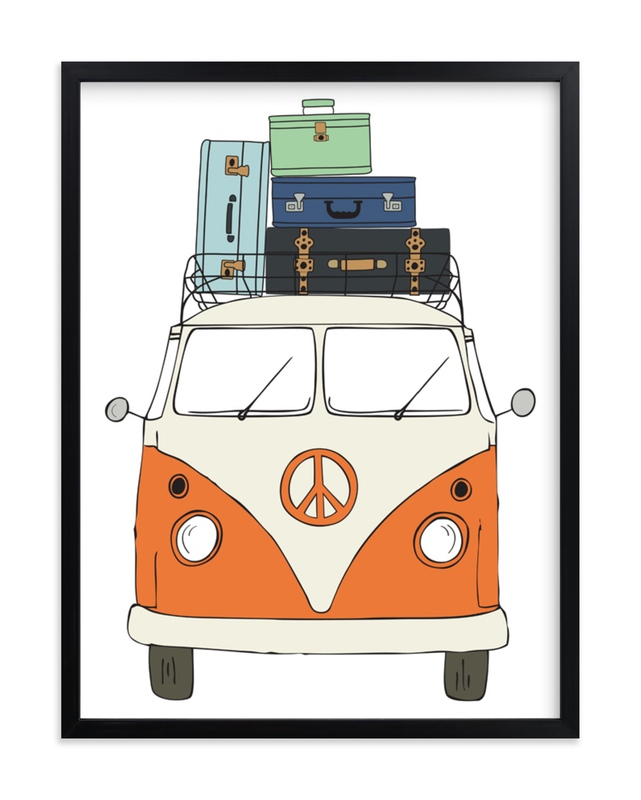 """""""The Peace Van on the Road"""" - Limited Edition Art Print by Alston Wise in beautiful frame options and a variety of sizes."""