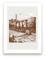 vintage fly fishing by pottsdesign