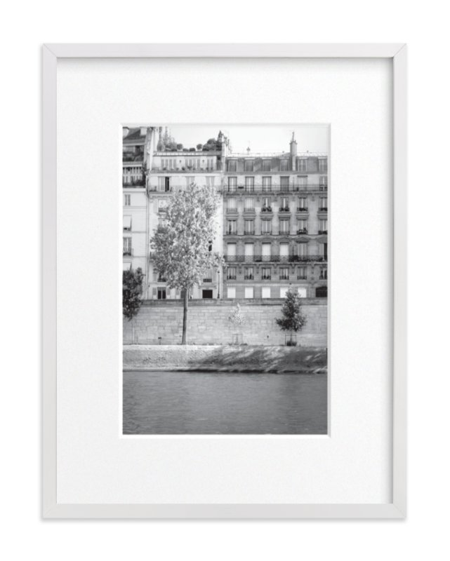 """Morning Walk on the Seine"" - Limited Edition Art Print by Sharon Rowan in beautiful frame options and a variety of sizes."