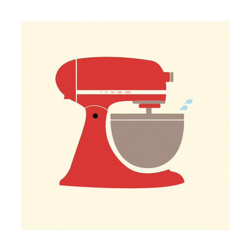 Kitchen Art Mixer: Vintage Kitchen Mixer Wall Art Prints By Katie Zimpel