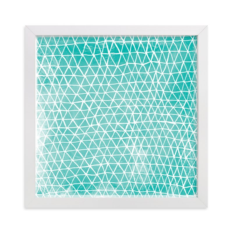 """""""Abstract Triangles"""" - Limited Edition Art Print by Paper Dahlia in beautiful frame options and a variety of sizes."""