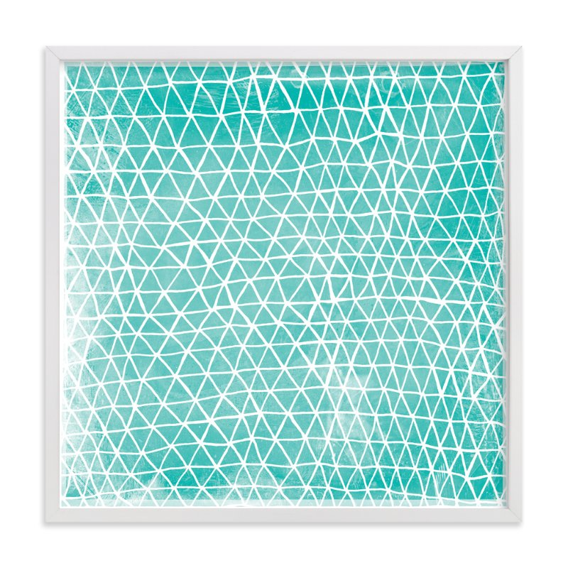 """Abstract Triangles"" - Limited Edition Art Print by Paper Dahlia in beautiful frame options and a variety of sizes."