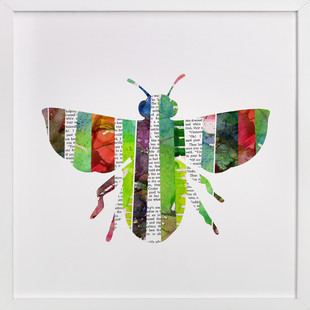 Honey Bee Collage Art Print