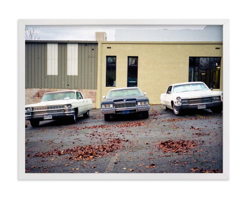 """""""Three Cars"""" - Limited Edition Art Print by Celisse Muller in beautiful frame options and a variety of sizes."""