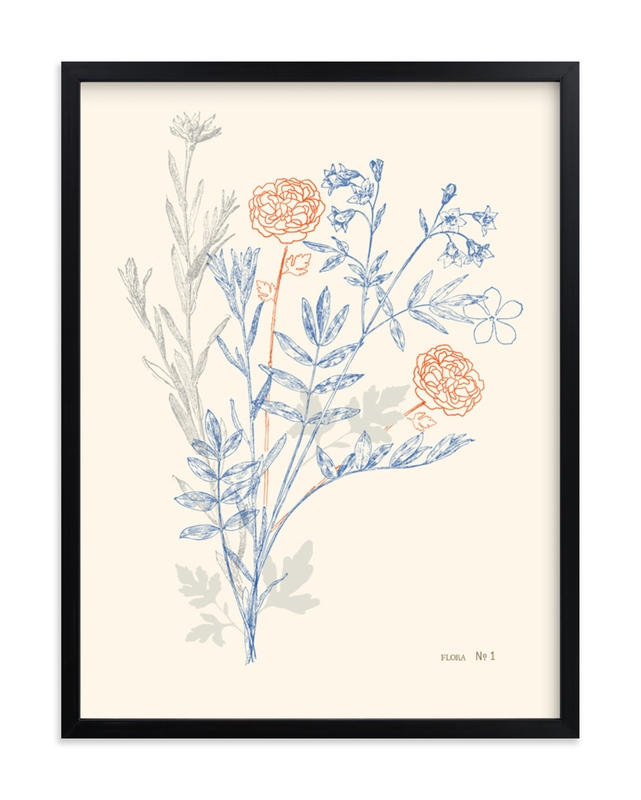 """""""flora number one"""" - Limited Edition Art Print by leslie hamer in beautiful frame options and a variety of sizes."""