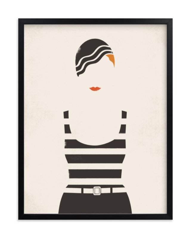 """Striped Suit"" - Limited Edition Art Print by Faiths Designs in beautiful frame options and a variety of sizes."