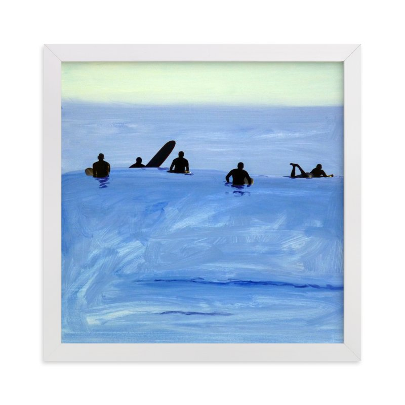 """""""Waiting For Swell, 2010"""" - Limited Edition Art Print by Annie Seaton in beautiful frame options and a variety of sizes."""
