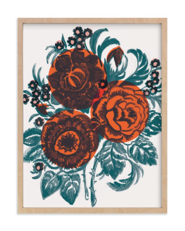 """""""Dora's Floral"""" - Limited Edition Art Print by Jill De Haan in beautiful frame options and a variety of sizes."""