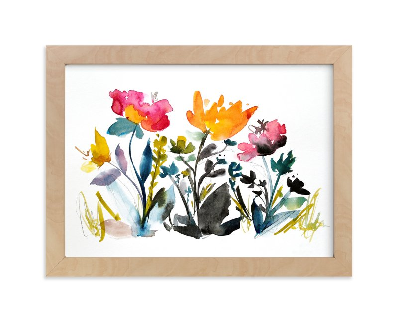 """""""island wildflowers no.2"""" - Limited Edition Art Print by Kiana Lee in beautiful frame options and a variety of sizes."""