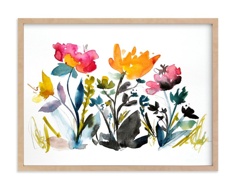 """""""island wildflowers no.2"""" - Limited Edition Art Print by Kiana Mosley in beautiful frame options and a variety of sizes."""