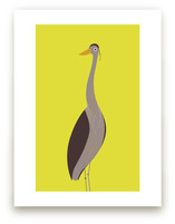 The Elegant Heron by Mayel